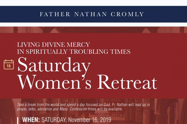 Living Divine Mercy, Women's Retreat with Fr. Nathan Cromly