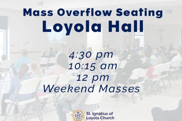 Overflow Seating Volunteers Needed