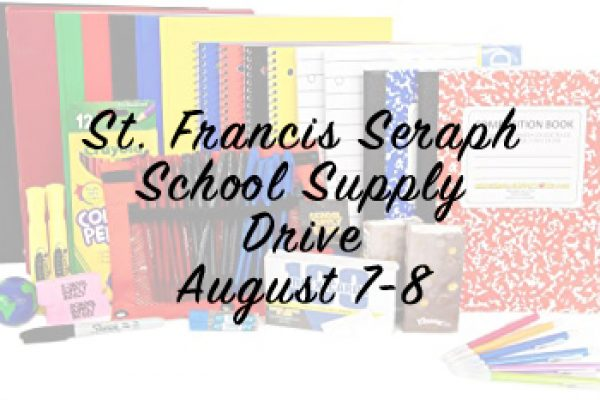 School Supply Drive – August 8 & 9