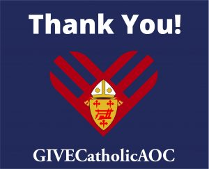 GIVECatholicAOC Thank You graphic